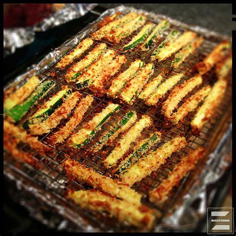oven fried zucchini sticks buzzyfoods