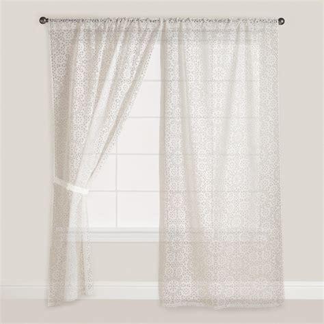 burnout curtains mosaic sheer burnout curtain world market