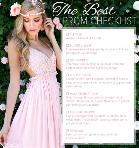8 Tips On Preparing For Prom by The Best Prom Checklist Trusper