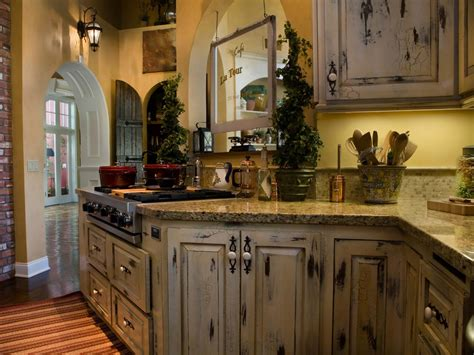 antique looking kitchen cabinets distressed kitchen cabinets pictures ideas from hgtv hgtv