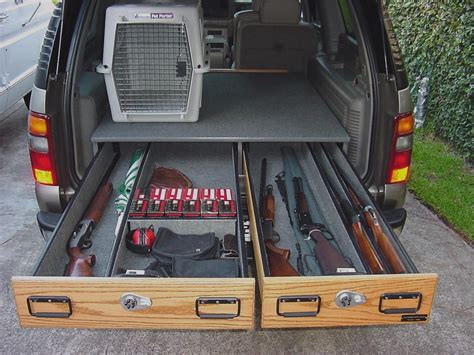 Suv Storage Drawer Plans by Custom Chevy Suburban Drawer Drawer With Opening For