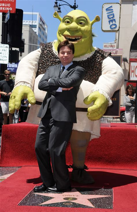 mike myers shrek mike myers in shrek honored on the hollywood walk of fame
