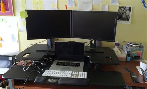 standing desk setup standing desk setup office hack why i switched to a