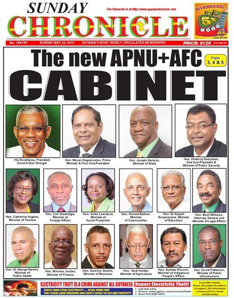 Guyana Cabinet by 2015 5 24 By Guyana Chronicle E Paper Issuu