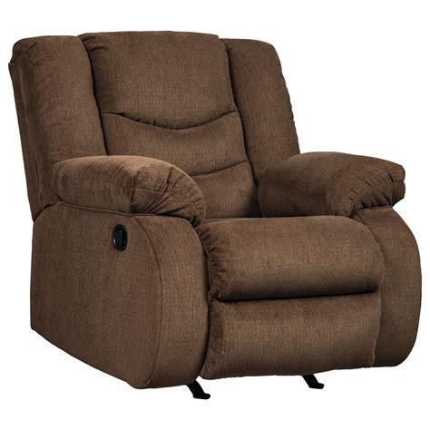 signature design recliner signature design by ashley tulen contemporary rocker
