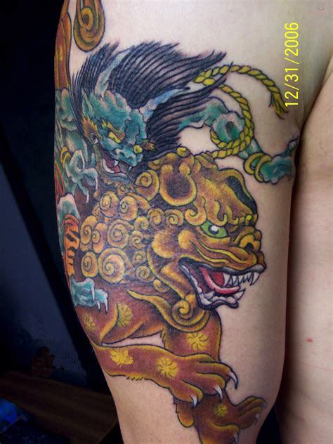 chinese foo dog tattoo designs foo images designs