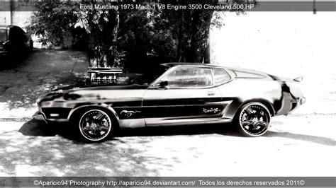ford mustang 1973 mach 1 v8 by aparicio94 on deviantart