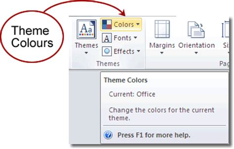 colour themes word microsoft word 2010 themes