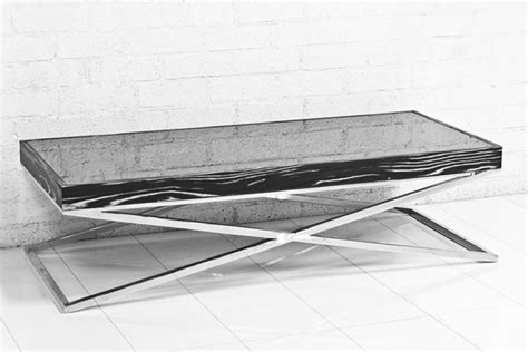 Www Roomservicestore Com Black And White Macassar And Chrome Leg Coffee Table