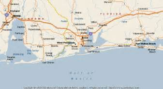 florida map pensacola map of pensacola