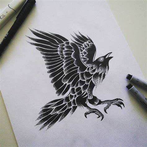 the gallery for gt raven back tattoo