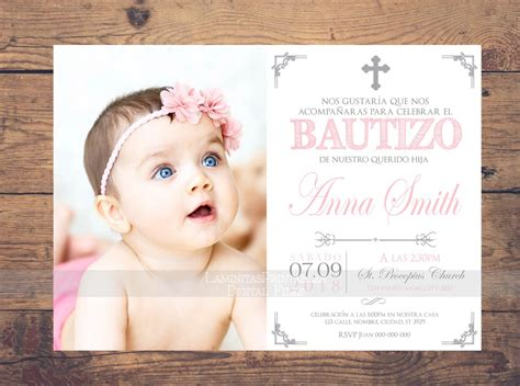 templates for baptism invitations in spanish bautizo invitations invitacion bautizo en espa 241 ol