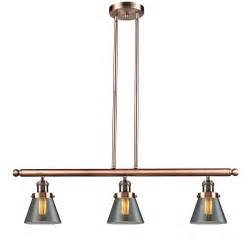 Pendant Light Fixtures For Kitchen Island by Innovations Lighting Glass Cone 3 Light Kitchen Island