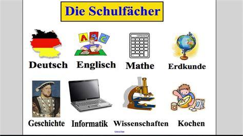 In German by School Subjects German