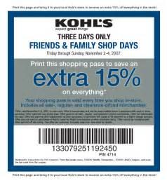 printable coupons kohls coupons