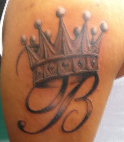 letter b tattoos letter and crown tattoomagz