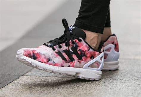 zx flux floral pattern d 233 couvrez adidas zx flux pink flowers une running pour