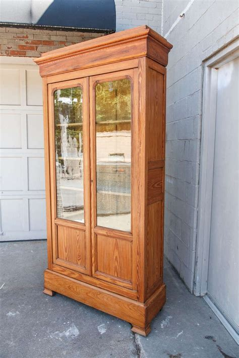pine bookcase with doors 19th century louis philippe pine bookcase with antique