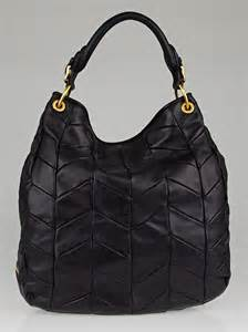 Miu Miu Quilted Leather Hobo by Miu Miu Black Leather Quilted Chevron Hobo Bag Yoogi S
