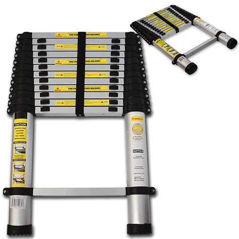 Telescoping L Changer by Oxgord Aluminum Ladder Telescoping Telescopic 12 5 Ft