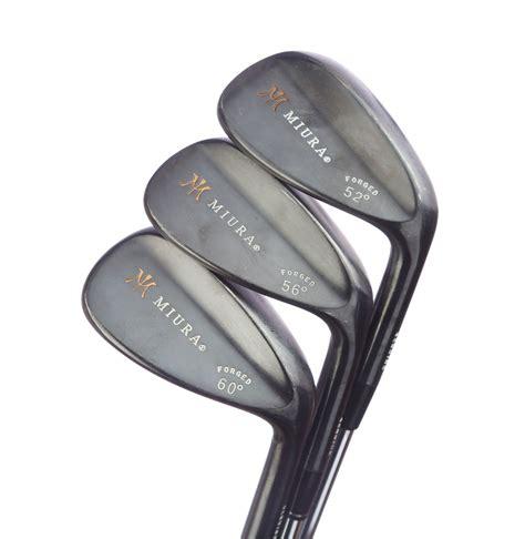 Golf Miura Loft 52 Black tour issue miura forged black gap sand lob wedge set 52