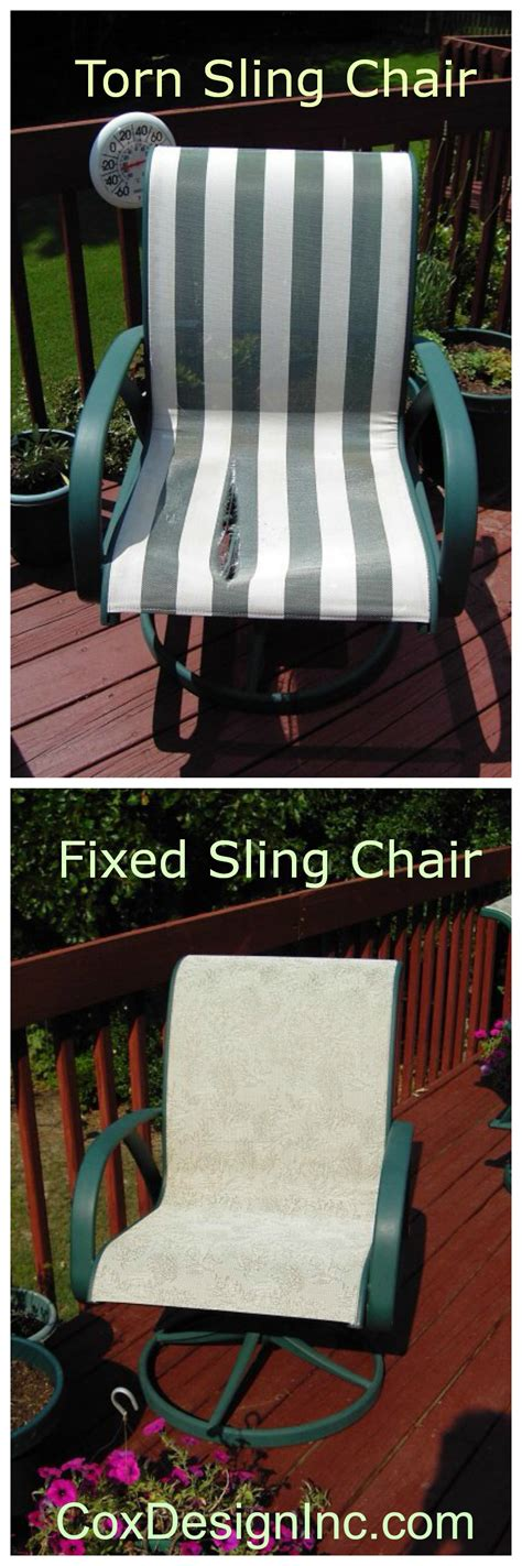 repair sling chairs we can replace the fabric in sling type chairs to make