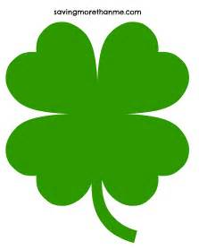 Four Leaf Clover Outline Clip by Free St Patricks Day Printables Coloring Pages Clover
