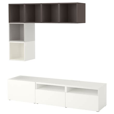 besta und eket eket best 197 cabinet combination for tv white light grey