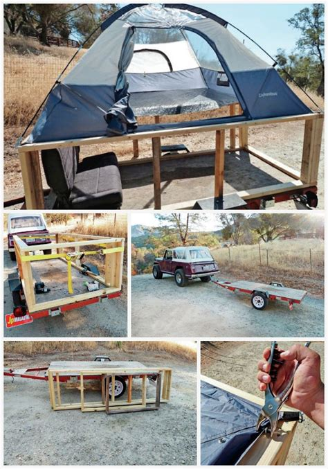 Economical 3 Bedroom Home Designs he put a tent on a trailer and made a practical camper