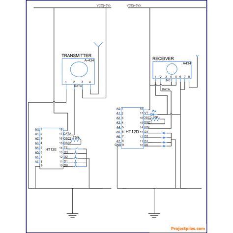 radio remote circuit diagram rf transmitter receiver circuit diagram