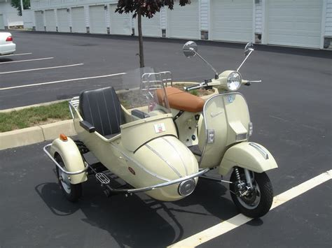 Pittsburgh Upholstery Modern Vespa Px200 With Sidecar