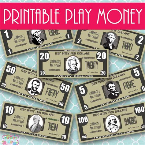 Printable Play Money 1