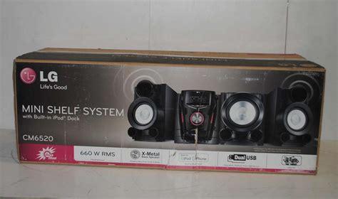 Lg Shelf Stereo System by Lg Cm6520 Cd Mini Hifi Shelf Stereo System With Ipod Dock