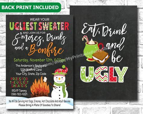 free printable sweater invitations sweater invitations glitter n spice