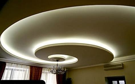 Curved False Ceiling Design by 4 Curved Gypsum Ceiling Designs For Living Room 2015
