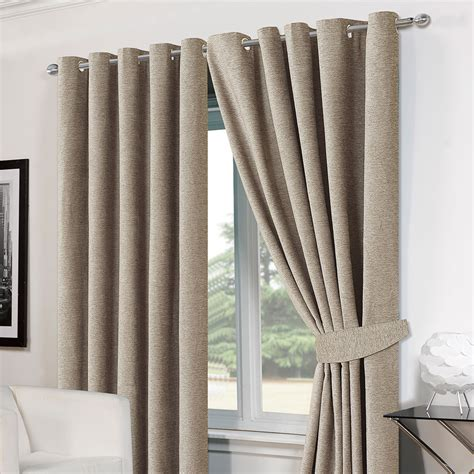 thermal lined eyelet curtains luxury ring top eyelet chenille lined thermal ready made