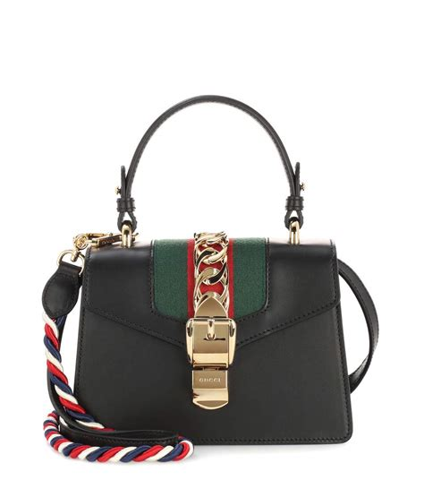 aliexpress gucci bag gucci sylvie mini chain trimmed leather and canvas
