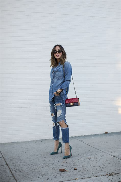 Lulaby Denim denim shirt and ripped denim song of style