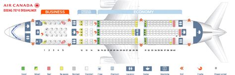 Seat Map Boeing Air Canada by Seat Map Boeing 787 8 Dreamliner Air Canada Best Seats In