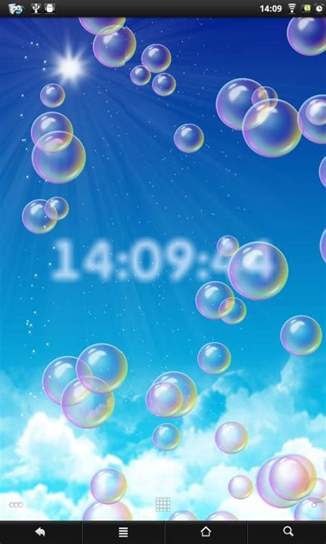 live bubble themes bubbles clock live wallpaper android apps op google play