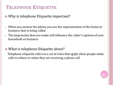 7 Crucial Tips On Telephone Etiquette by Telephone Etiquette Sunset Reef