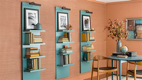 lighted vertical wall shelf