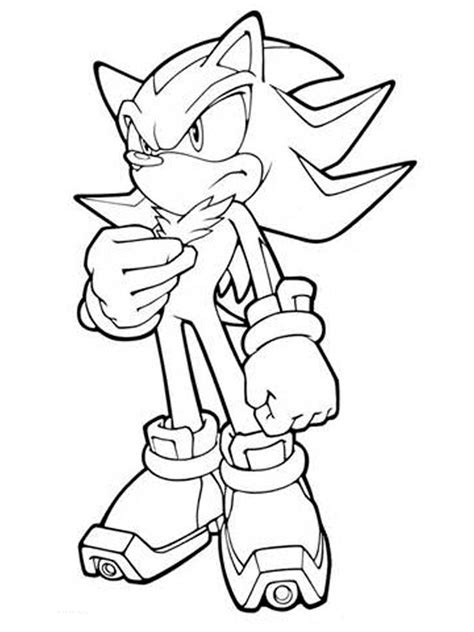 shadow the hedgehog coloring pages free printable shadow