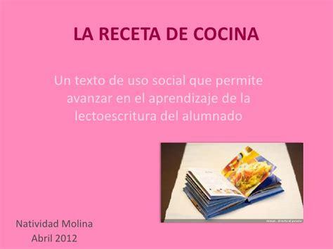 las recetas de las 8416984085 la receta de cocina cotejar 2012