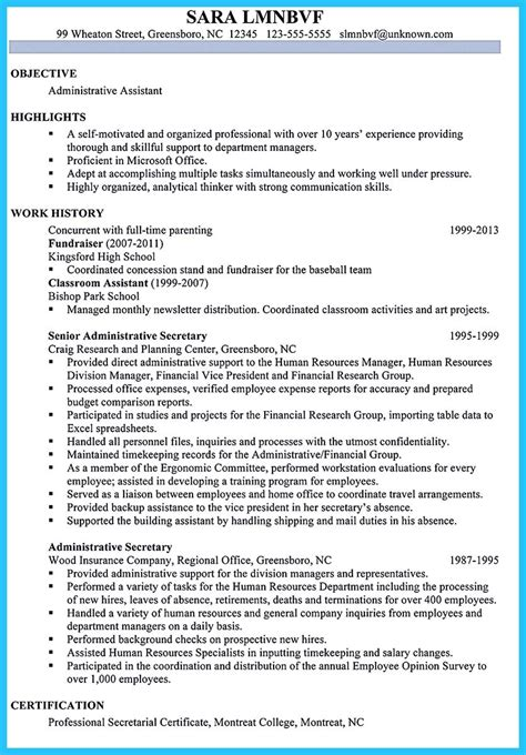 administrative resume exles 2015 sle to make administrative assistant resume