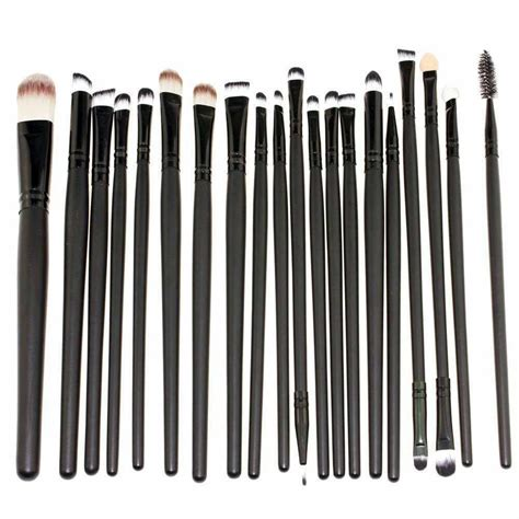 Kuas Makeup Set cosmetic make up brush 20 set kuas make up black jakartanotebook