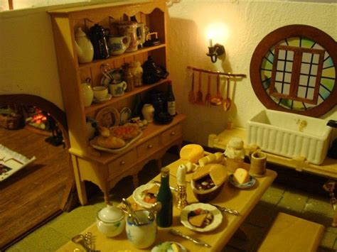 hobbit kitchen miniature hobbit s kitchen dollhouse the hobbit
