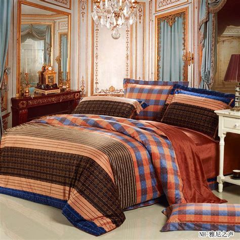 Mens Comforter Sets thermal vintage luxury stripe and tartan mens comforter