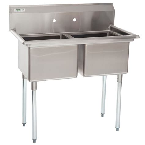 Stainless Steel Commercial Sinks by Regency 41 Quot 16 Stainless Steel Two Compartment