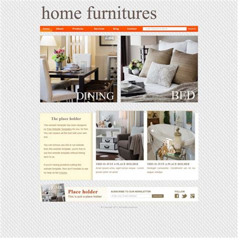 Furniture Shop Website Template Free Website Templates Furniture Website Templates Free